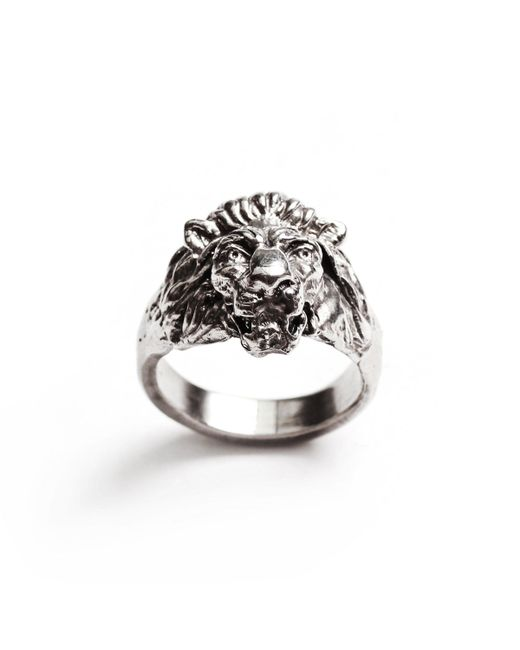 Lulu Frost - Multicolor George Frost Bravery Lion Ring - White Bronze for Men - Lyst