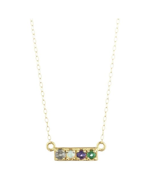 Lulu Frost - Multicolor Code Word Love Necklace 14k Gold - Lyst