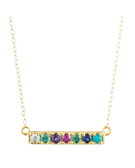 Lulu Frost | Metallic Dearest Necklace 14k Gold | Lyst