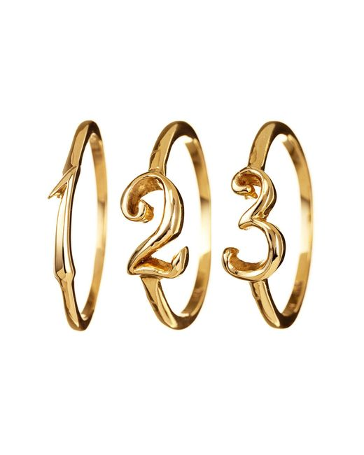 Lulu Frost - Metallic Code Number Ring Sterling Sterling Silver - Lyst
