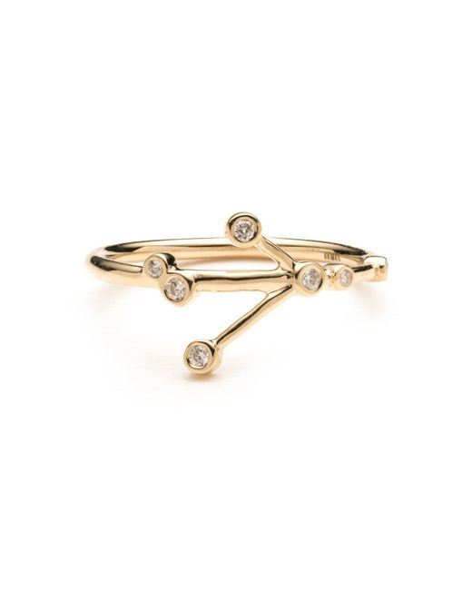 Lulu Frost - Metallic Zodiacs 14k Cancer + Water Ring - Lyst