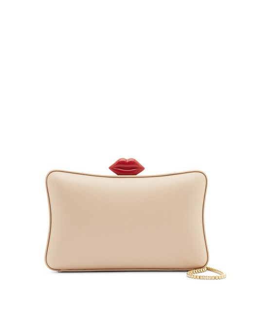 Lulu Guinness - Multicolor Latte Smooth Leather Lavina Clutch - Lyst