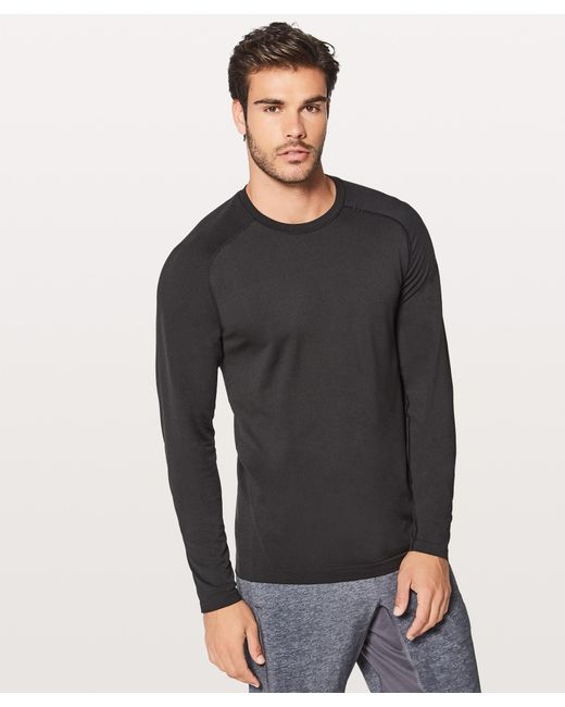 e21df79a9 lululemon athletica - Black Metal Vent Tech Long Sleeve for Men - Lyst ...