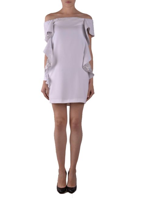 Pinko - White PINKO Dress - Lyst