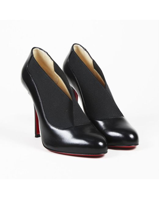 "Christian Louboutin - Black Nappa Shiny Leather ""toot Couverte"" Ankle Boot - Lyst"