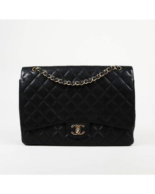 43726ad45af16b Chanel - Black 2011 Quilted Caviar Leather Maxi