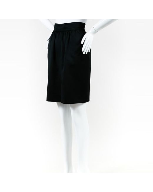 Chanel - Boutique Black Pencil Skirt - Lyst