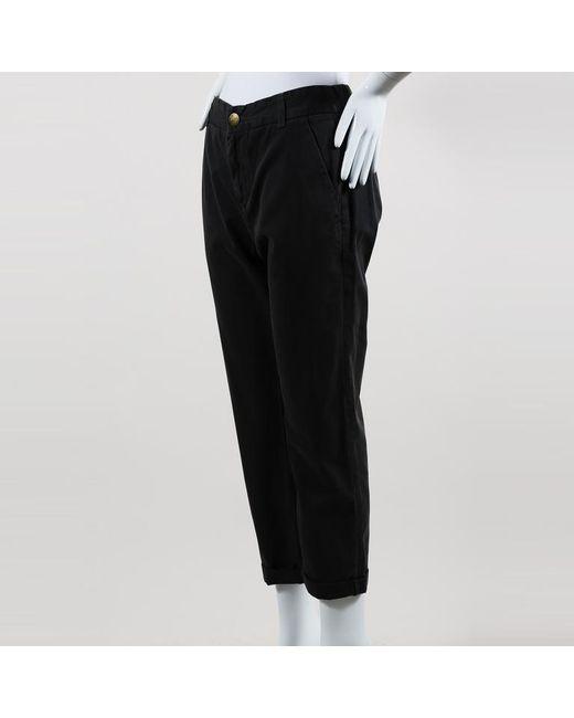 Current/Elliott - Gray Cotton Straight Leg Cuffed Pants - Lyst