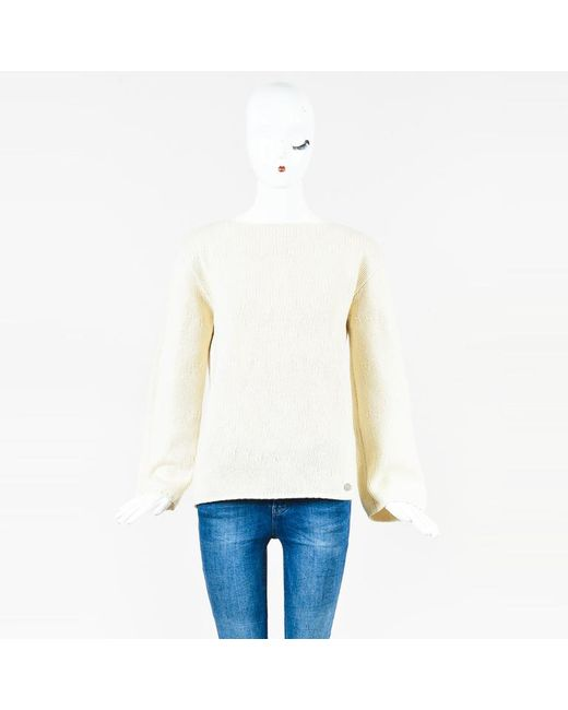 Chanel - Natural Vintage Fall 1999 Cream Cashmere Blend Sweater - Lyst