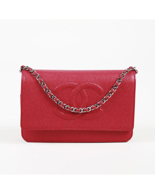 83d55d28a4af Chanel Dark Pink Caviar Leather