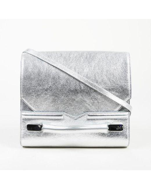 J. Mendel - Metallic Mirror Grain Leather Crossbody Bag - Lyst