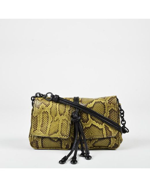 c57ca7d04d Bottega Veneta - Green Brown Snakeskin