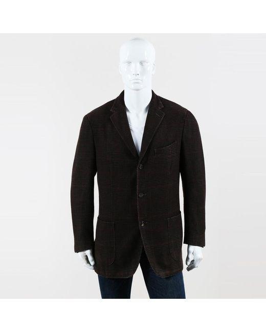 Boglioli - Mens Brown Cashmere Plaid 3 Button Blazer for Men - Lyst