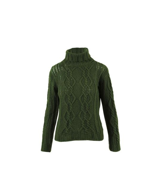 Max Mara - Weekend Green Wool Blend Turtleneck Sweater - Lyst
