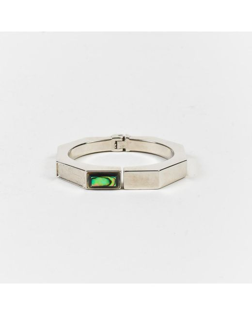 "Vita Fede - Metallic ""iridescent Green"" Sterling Silver Bangle Bracelet - Lyst"