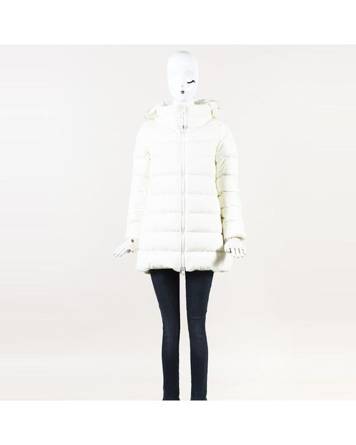 a0b54ef10a26 Herno - White Nylon Down   Wool Blend Polar Tech Hooded Jacket - Lyst