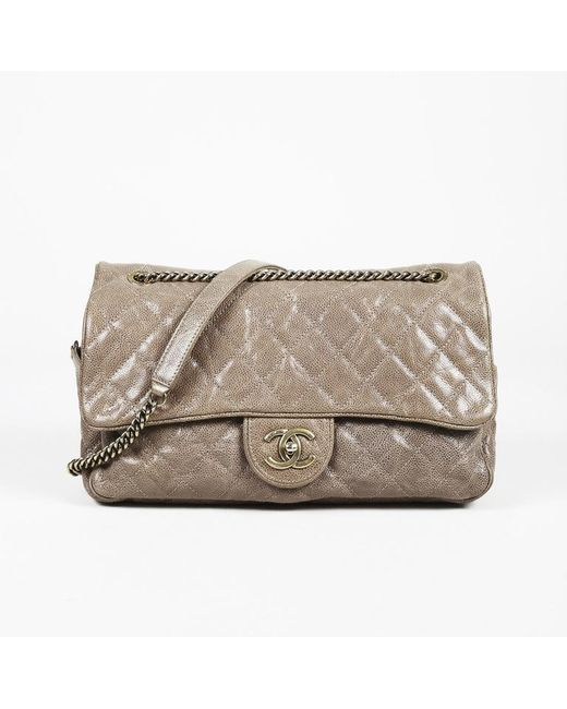 ee4db02a2d5fd4 Lyst - Chanel Paris-bombay Large Shiva Flap Bag in Brown