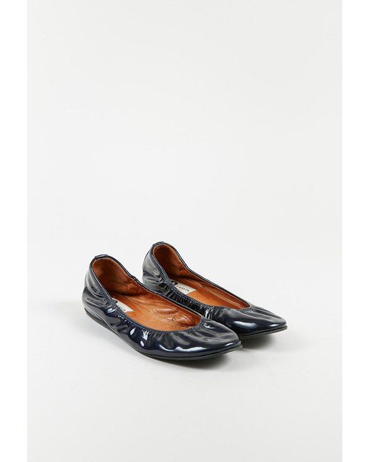 pre order Lanvin Leather Round-Toe Ballet Flats clearance best buy cheap pay with visa VCCU0sNAa