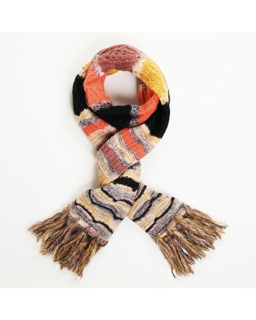 Missoni Multicolor Foulard Virgin Wool Mohair Knit Scarf