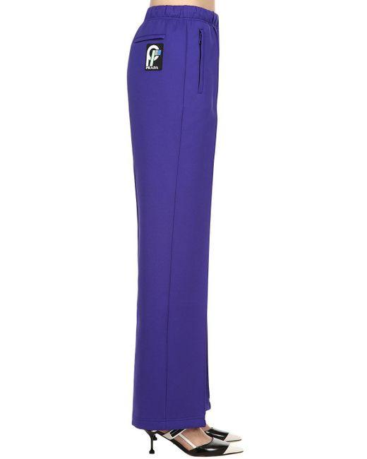 Prada - Purple Techno Jersey Pants - Lyst