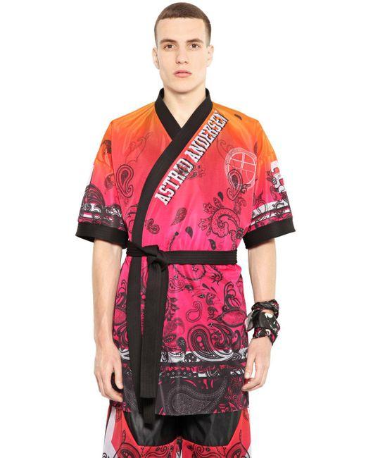 Astrid Andersen   Black Gradient Printed Techno Mesh Kimono for Men   Lyst