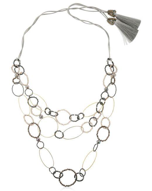Night Market - Metallic Long Circle Necklace - Lyst
