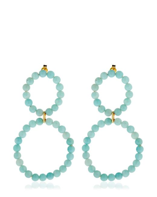 Saskia Diez - Blue Holiday Amazonite Earrings - Lyst