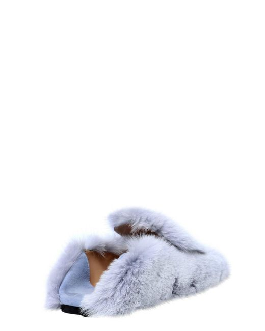 Sergio Rossi 10MM SR1 LAPIN FUR LOAFERS
