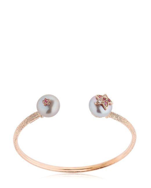Carolina Bucci - Metallic Pearl Rose Gold Bangle Bracelet - Lyst