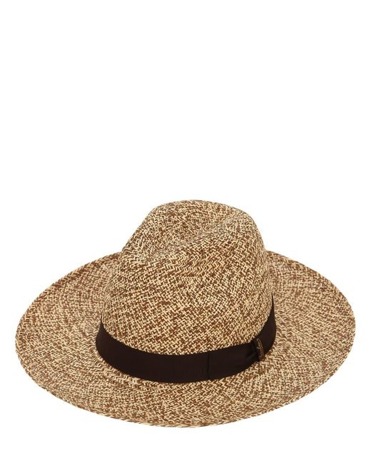 65fbeb7a334 Borsalino - Brown Panama Large Weaved Straw Hat for Men - Lyst ...