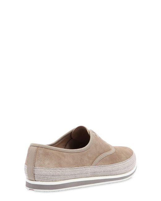 Prada SAINT TROPEZ SUEDE LACE-UP SNEAKERS Z5wG8JN