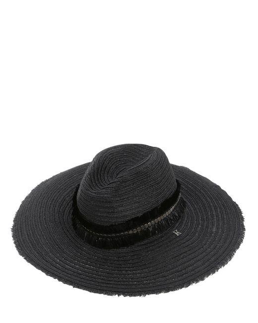 Kreisi Couture - Black Zola Straw Hat - Lyst