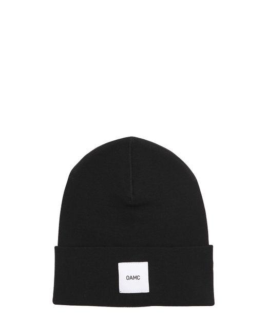 OAMC - Black Logo Patch Wool Beanie Hat for Men - Lyst