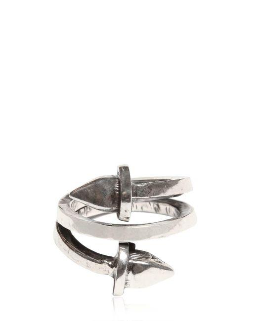 Emanuele Bicocchi | Metallic Silver Pyramid Spring Ring for Men | Lyst