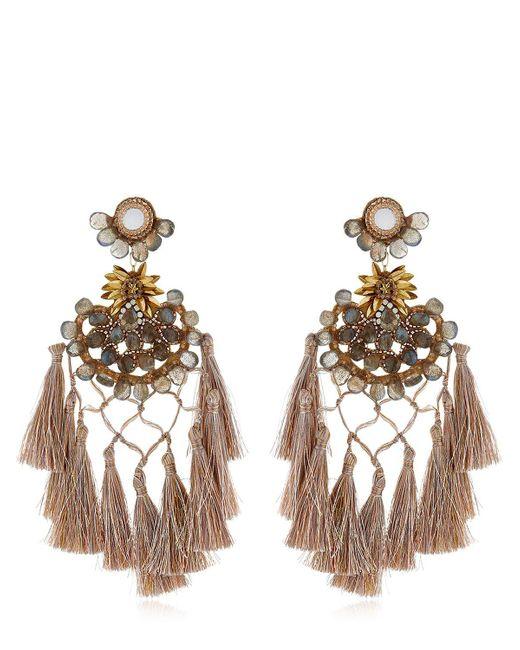 Deepa Gurnani - Metallic Cwen Earrings - Lyst