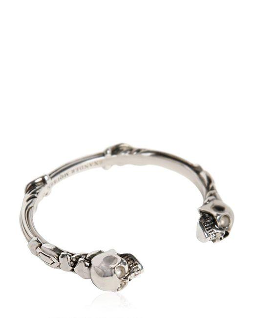Alexander McQueen | Metallic Skulls Cuff Bracelet for Men | Lyst