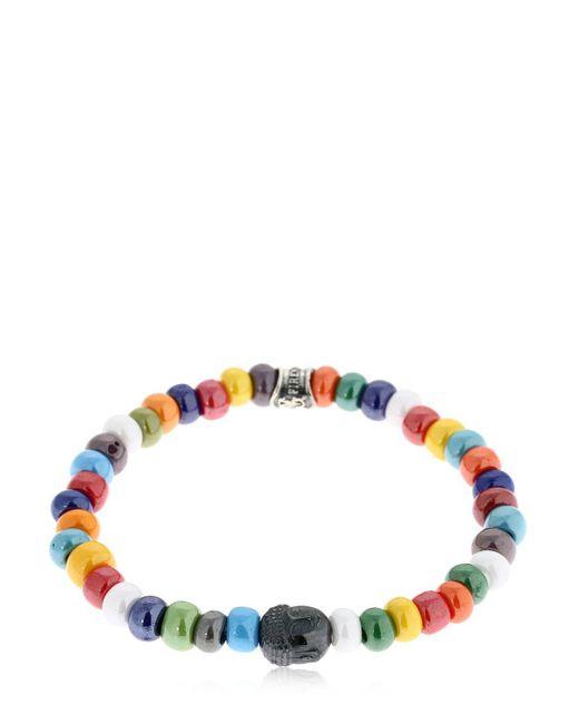 Cantini Mc Firenze - Blue Cromo Buddha Bracelet for Men - Lyst