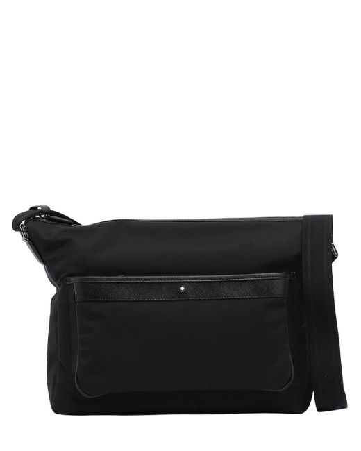 Montblanc | Black Sartorial Jet Nylon Messenger Bag for Men | Lyst