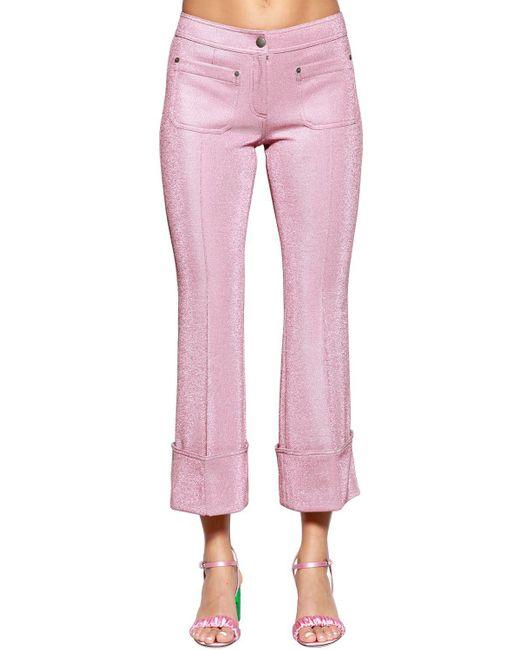 Marco De Vincenzo - Pink Flared Lurex Pants - Lyst