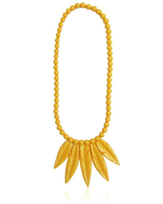 Mariah Rovery | Yellow Colar Penas Necklace | Lyst
