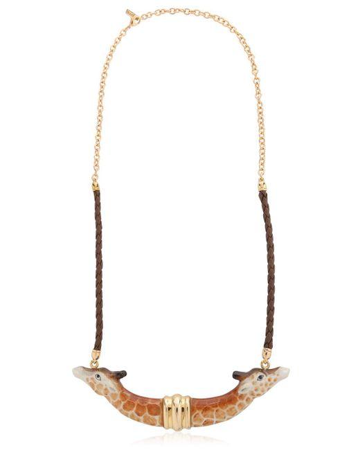 Nach | Brown Giraffe Necklace | Lyst