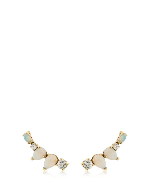 Sarah Noor - Metallic Opal Diamond Cluster Earrings - Lyst