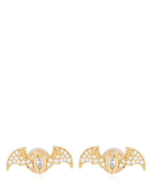 Apm Monaco - Metallic Flying Bat Stud Earrings - Lyst