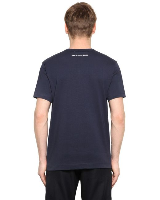 Comme des Garçons - Blue Essential Cotton Jersey T-shirt for Men - Lyst