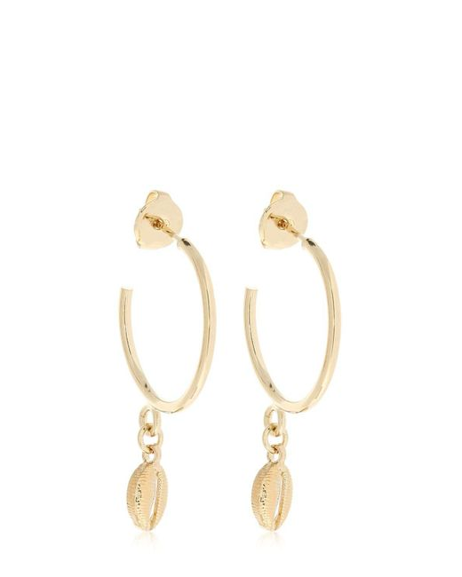 Isabel Marant - Metallic Hoop Earrings With Charms - Lyst