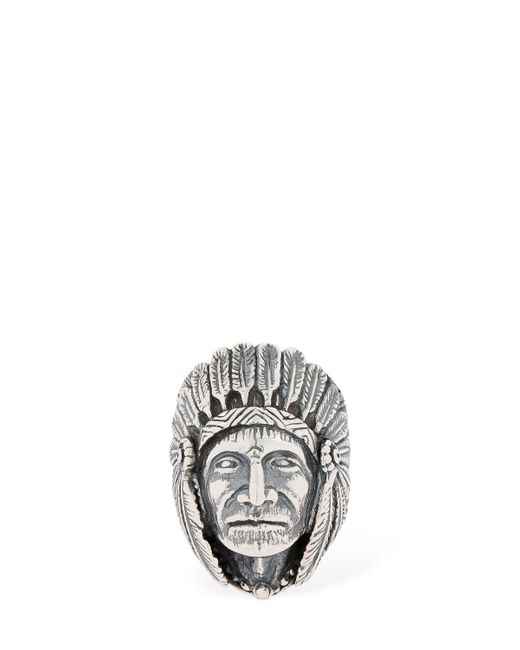 "Cantini Mc Firenze - Metallic Anillo ""great Indian Head"" for Men - Lyst"