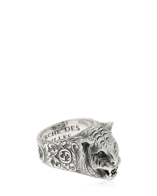 Gucci - Metallic Angry Cat Ring for Men - Lyst