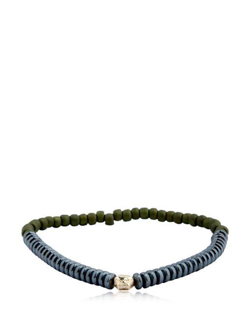 Luis Morais - Green Mini Faceted Bead Bracelet for Men - Lyst