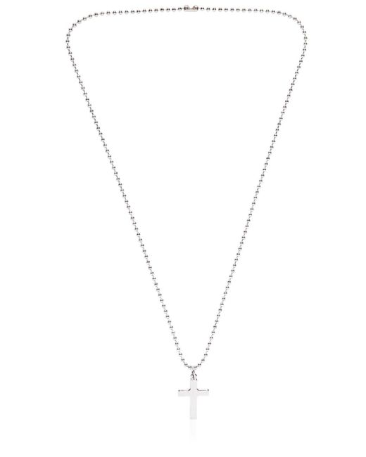DSquared² | Metallic Ball Chain Cross Metal Necklace for Men | Lyst
