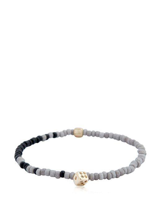 Luis Morais - Multicolor Dice Charm & Striped Beaded Bracelet for Men - Lyst